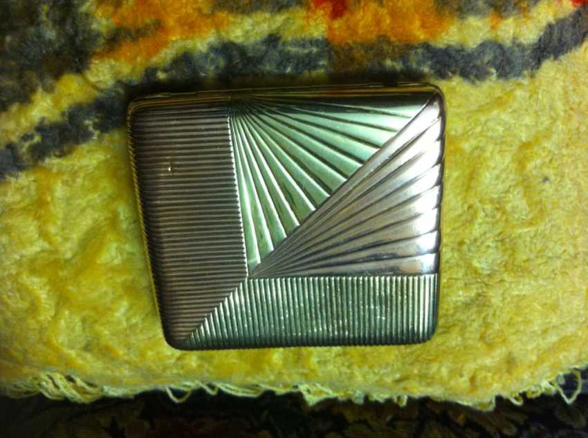 Cigarette case gold 56 samples 19th century great job - photo 3