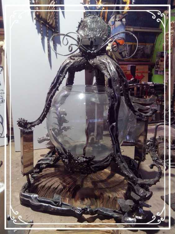 Alexandr Galimov. Golimowski forged AQUARIUM * OSMIUM-FEET* - photo 1