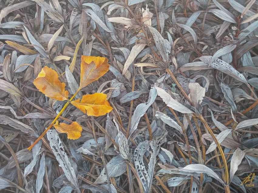 Olena Lytvynenko. The yellow sheet. Yellow leaf. - photo 1