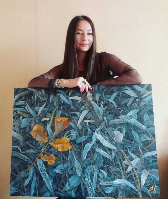 Olena Lytvynenko. The yellow sheet. Yellow leaf. - photo 2