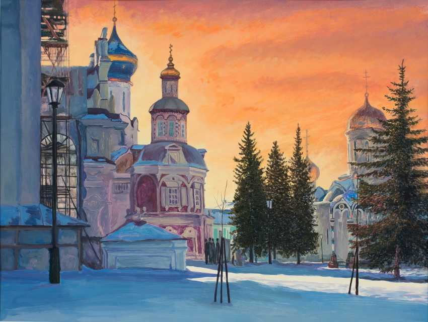 Viktor Borodin. Evening. ser. The Trinity-Sergius Lavra - photo 1