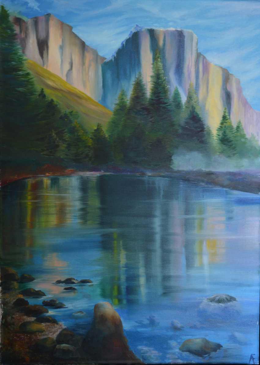 Elena Orlova. The mountains and lake - photo 1
