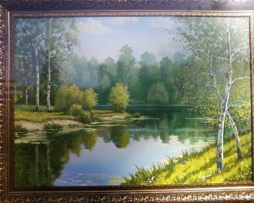 Boris Agafonov. Landschaft am Fluss chopjor - Foto 1
