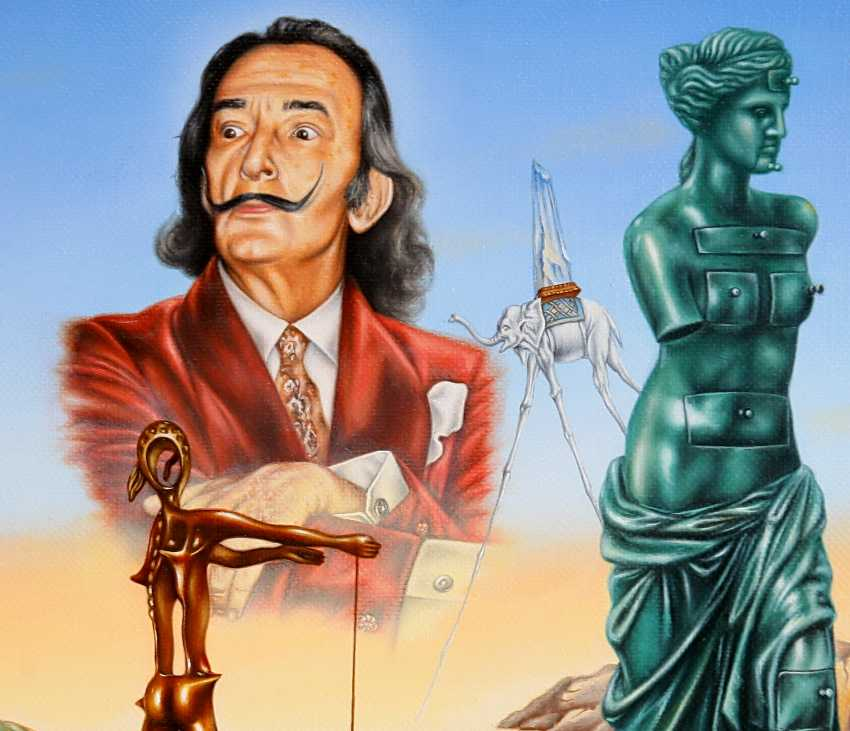 "Andrey Gorenkov. ""Homage To Dali.Salvador admiringly contemplating his contribution to the art world."" - photo 2"