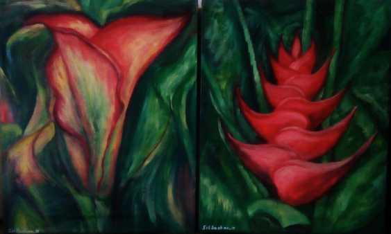 "Elena Podust. Diptych ""Tropical flowers"" - photo 1"