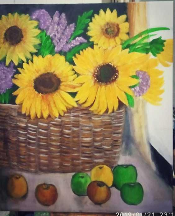 Alena Serebryanskya. Still Life Sunflowers - photo 2