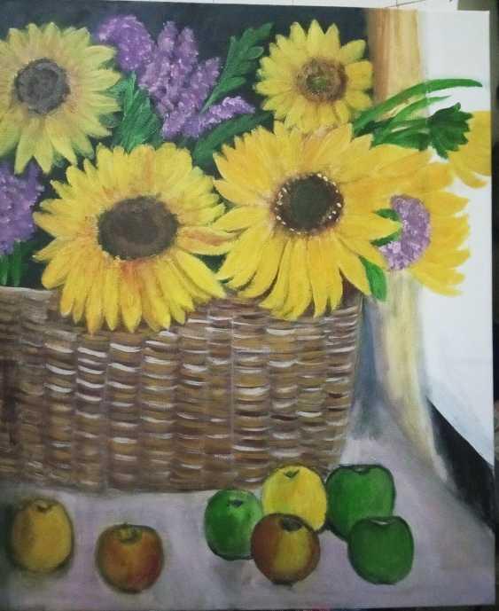 Alena Serebryanskya. Still Life Sunflowers - photo 3