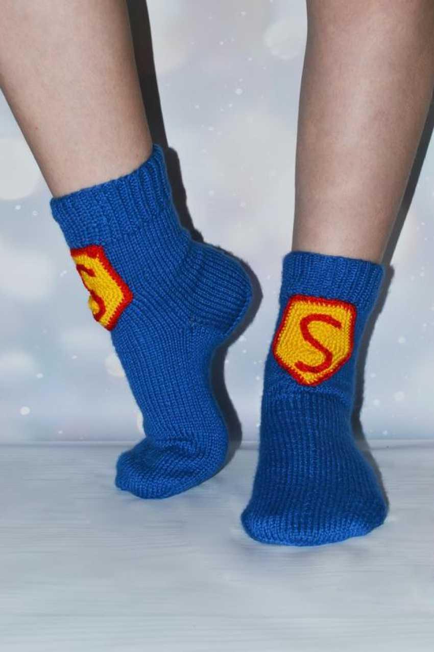 Tanya Derksch. socks for Superman - photo 1