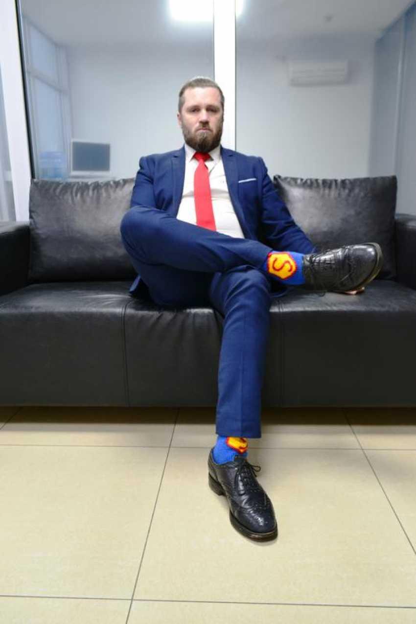 Tanya Derksch. socks for Superman - photo 5