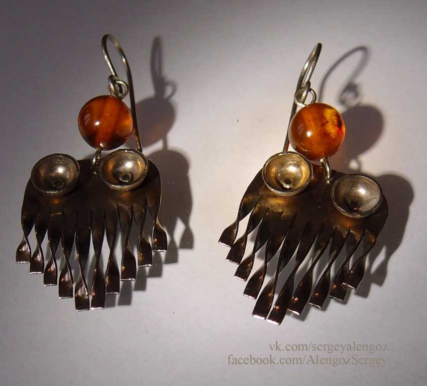 Sergey Alengoz. Silver handmade earrings - photo 1