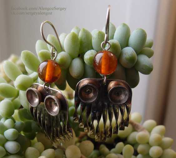 Sergey Alengoz. Silver handmade earrings - photo 2