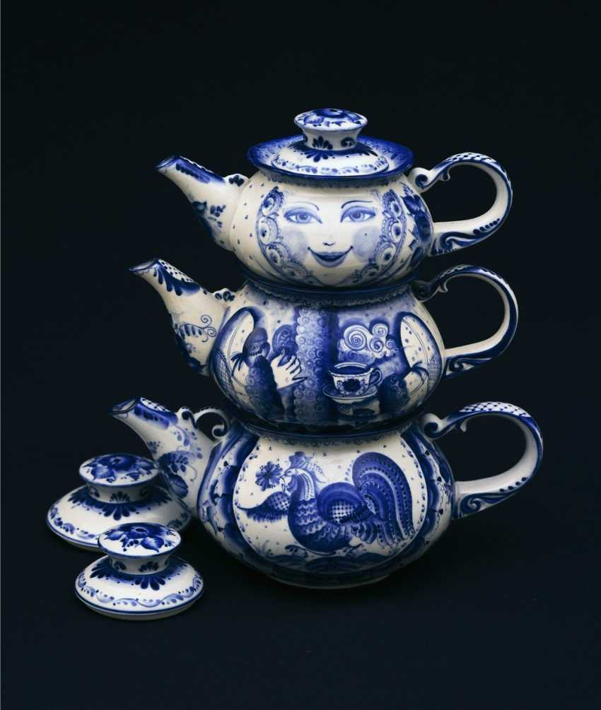 Sergey Karpukhin. Matrioshka - teapots set - three teapots - photo 1