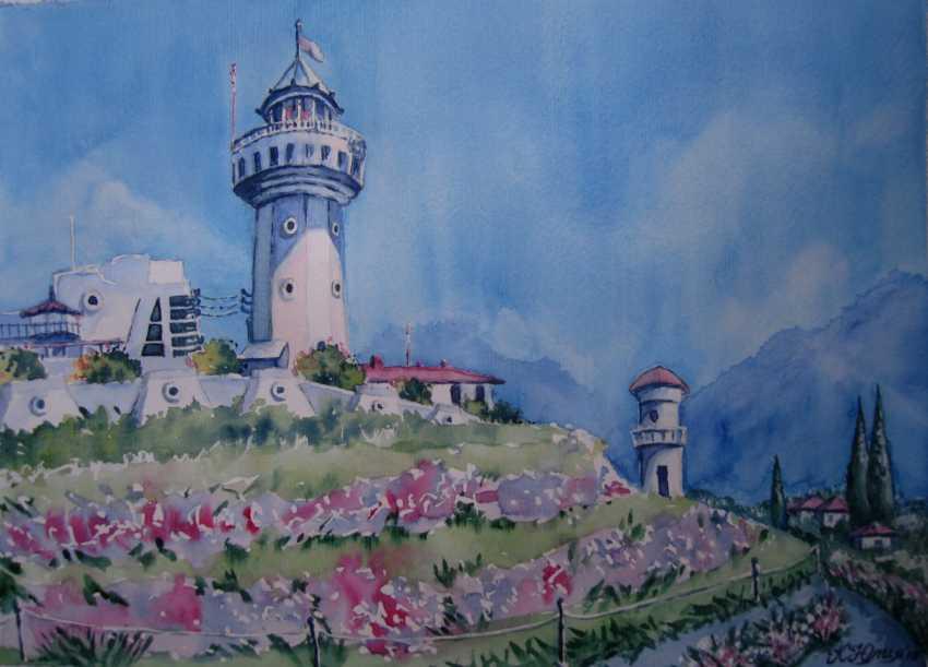 Julia Koliada. landscape with lighthouse - photo 1