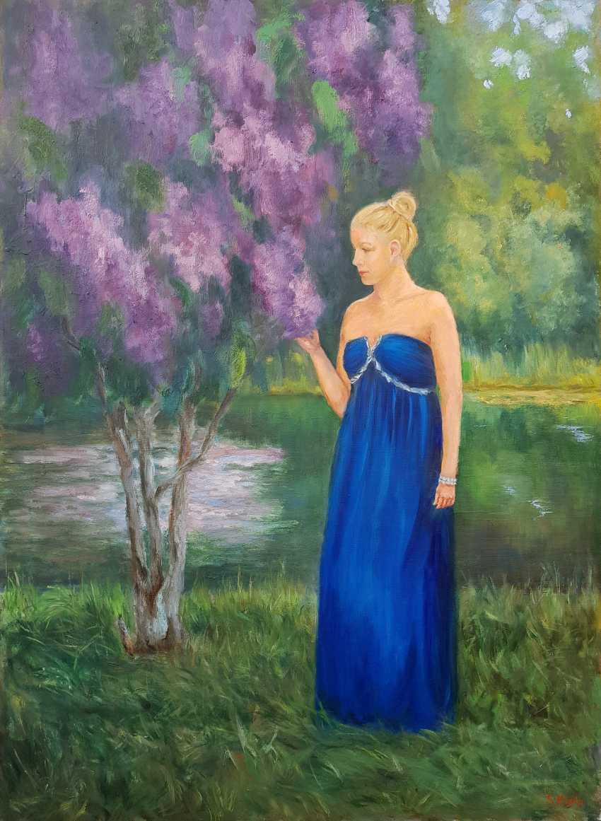 Svetlana Grishkovec-Kiisky. Woman in blue - photo 1