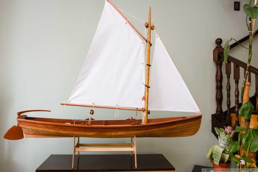 Igor Marukha. Model of the legendary wooden boat Whitehall - photo 15
