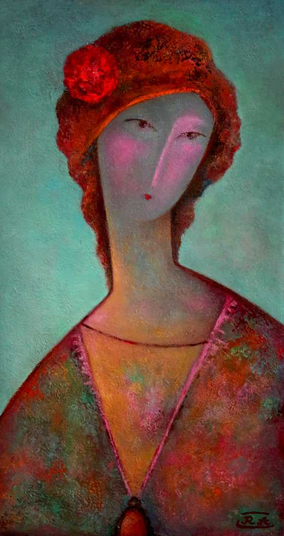 Rafail Aliyev. Lady with a cameo and a rose - photo 1