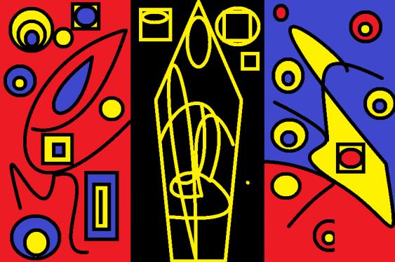 "Alexandre de`Ab. "" Xyeten of Patchwork Lines"" - photo 1"