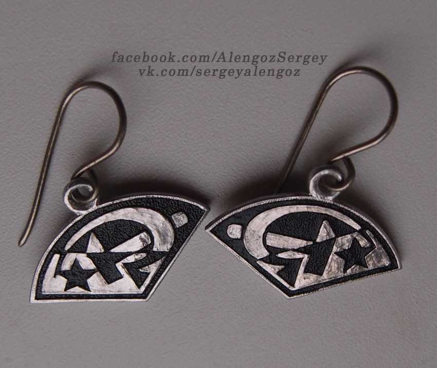"Sergey Alengoz. Earrings ""hammer and Sickle"". - photo 1"