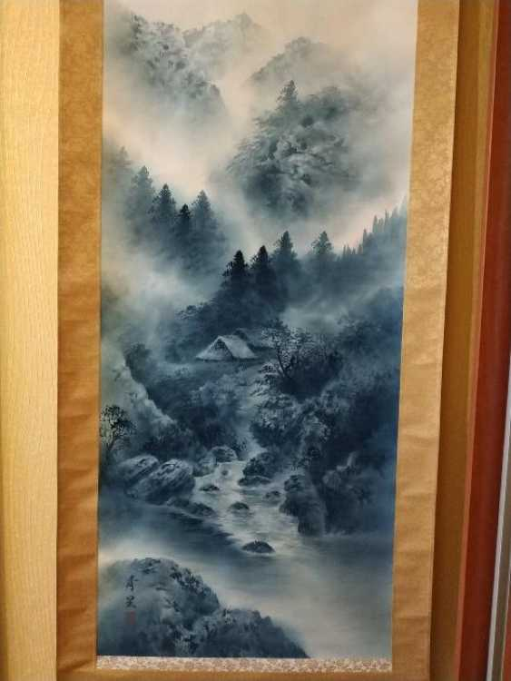 Traditional Japanese scroll painting - photo 2