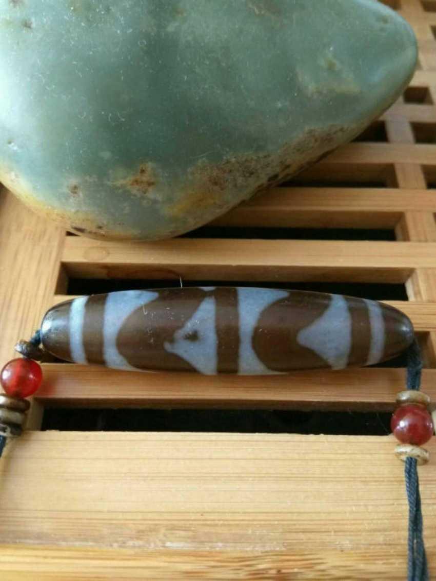 Tibetan bead Dzi - photo 4