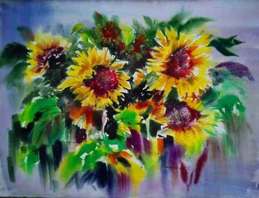 Yuriy Skrinnikov. Sunflowers - photo 1