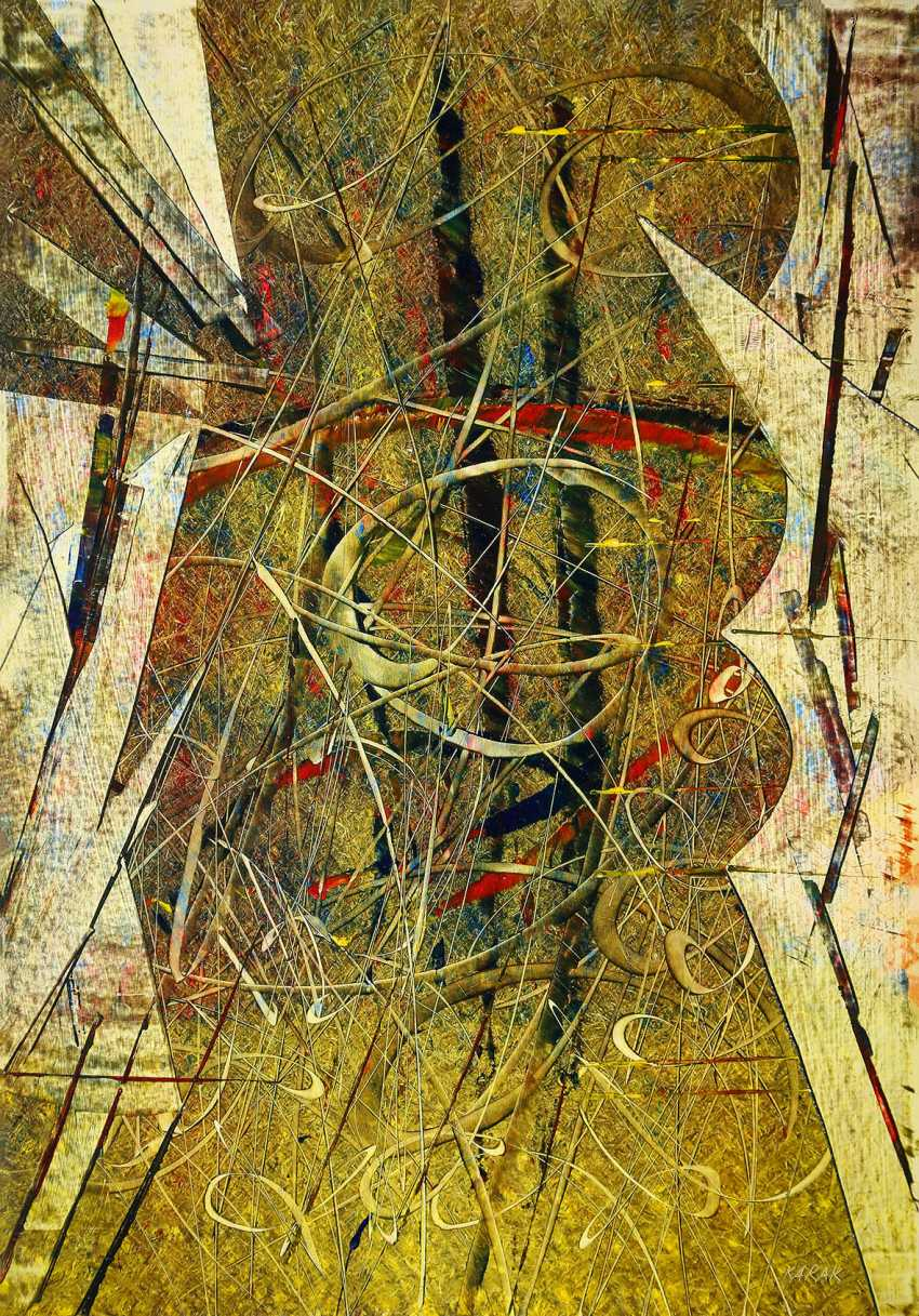 """KARAK"" Bolotbek Karakeev. Abstraction in the style of Op Art - photo 1"