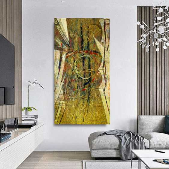 """KARAK"" Bolotbek Karakeev. Abstraction in the style of Op Art - photo 2"