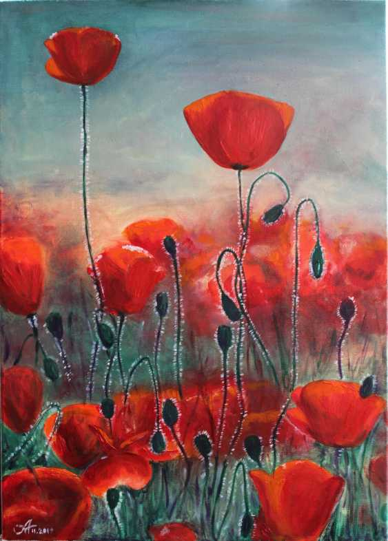 Alena Martsyanava. Field of poppies - photo 1