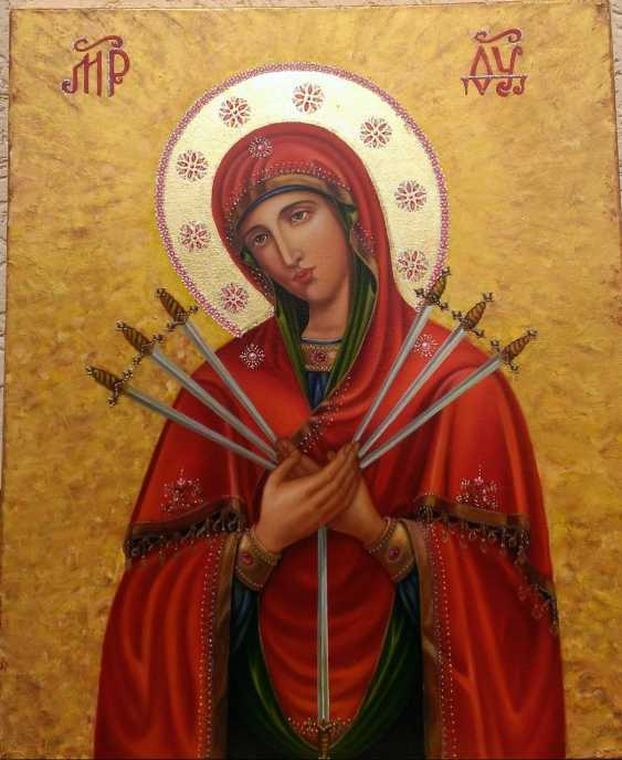 Ruda NATALIIA. Seven arrows icon of the Mother of God - photo 1