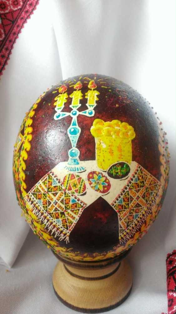"Ruda NATALIIA. Ostrich Pysanka ""Easter"" - photo 1"