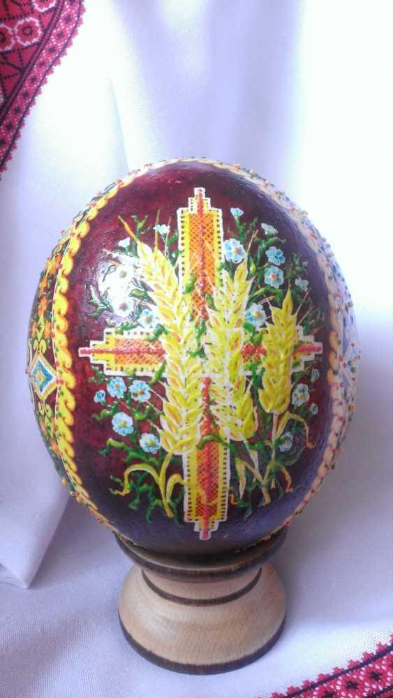 "Ruda NATALIIA. Ostrich Pysanka ""Easter"" - photo 2"