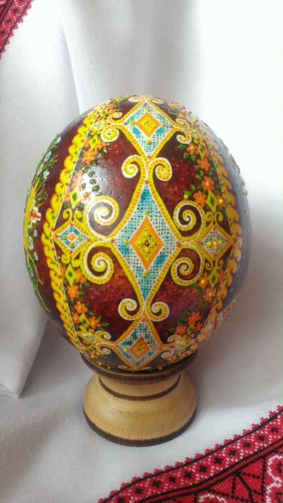 "Ruda NATALIIA. Ostrich Pysanka ""Easter"" - photo 3"