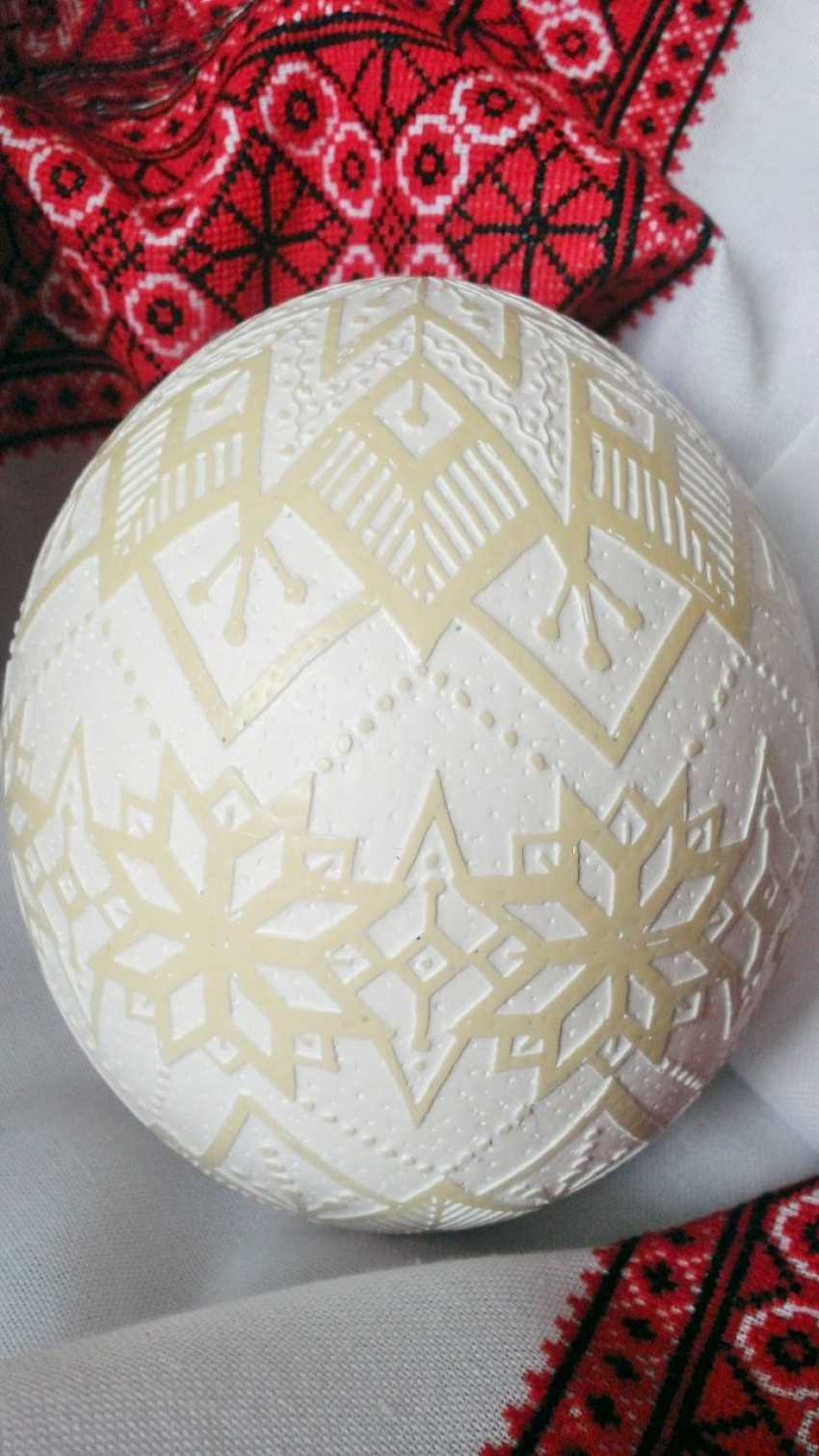 "Ruda NATALIIA. Ostrich Pysanka ""Easter Shine"" - photo 3"