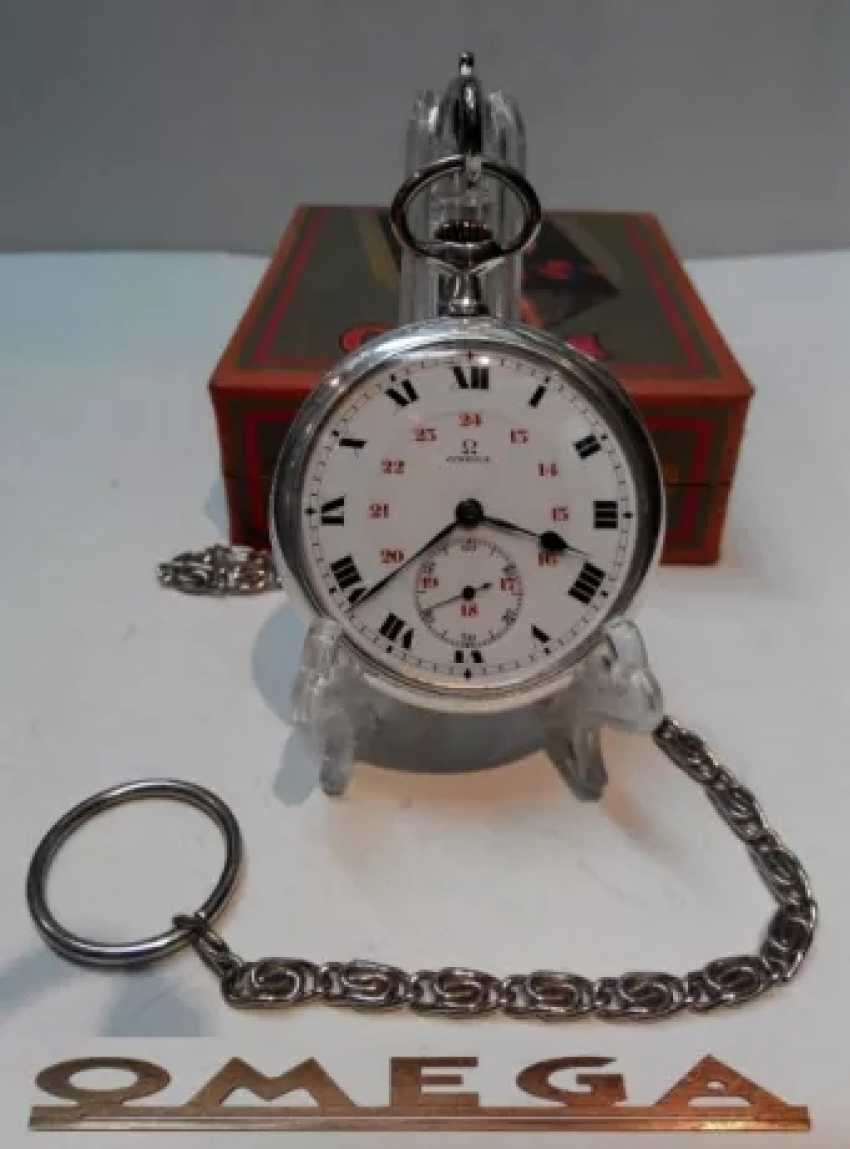 Vintage Omega silver pocket watch - photo 1