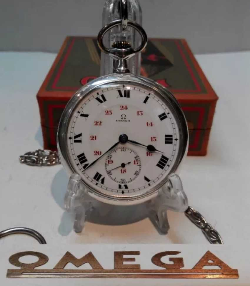 Vintage Omega silver pocket watch - photo 2