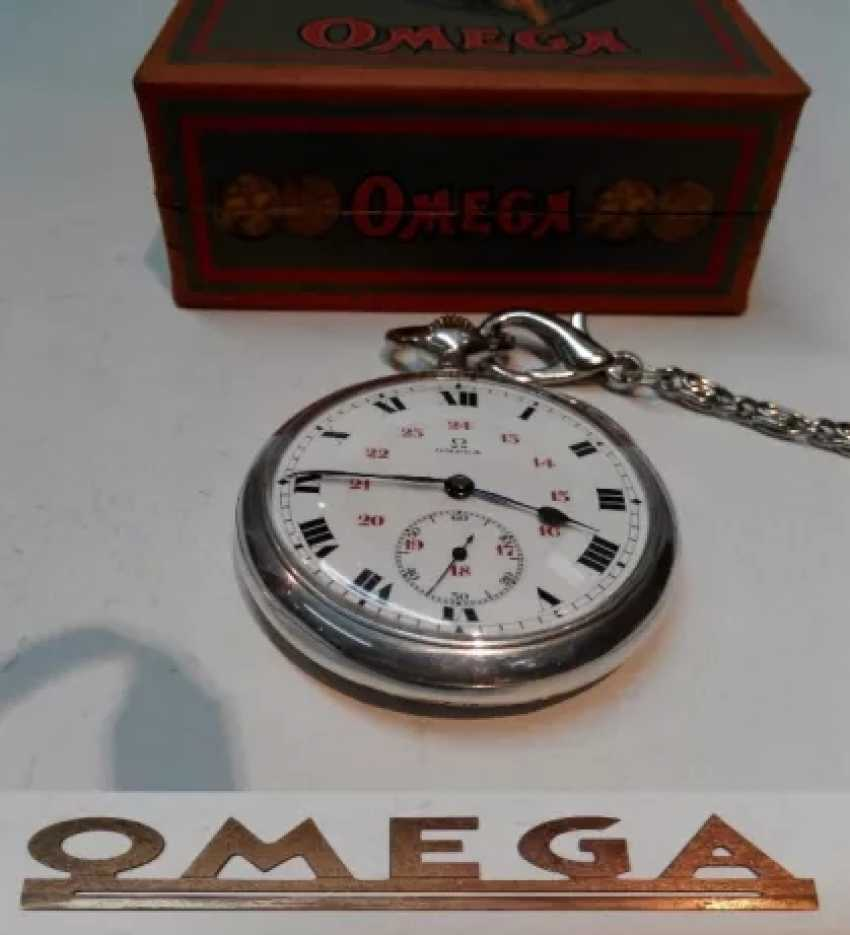 Vintage Omega silver pocket watch - photo 3