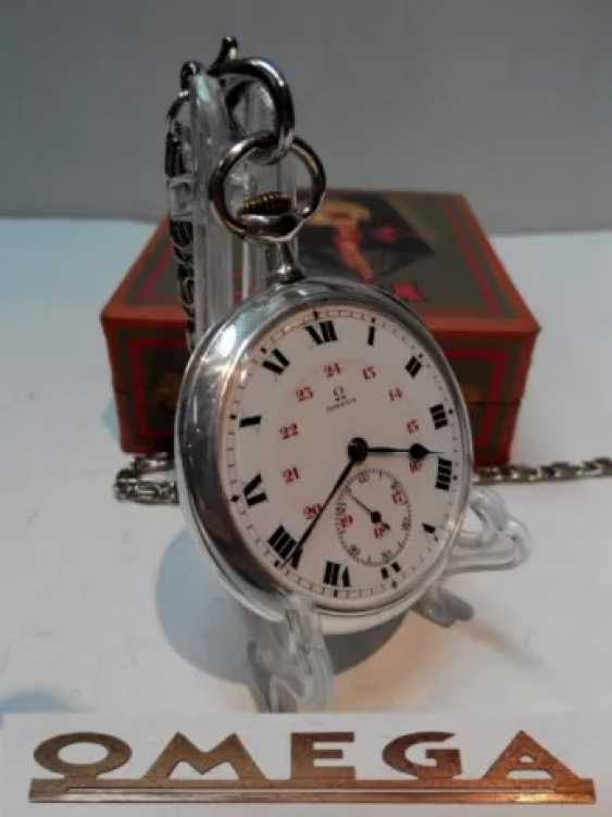 Vintage Omega silver pocket watch - photo 4