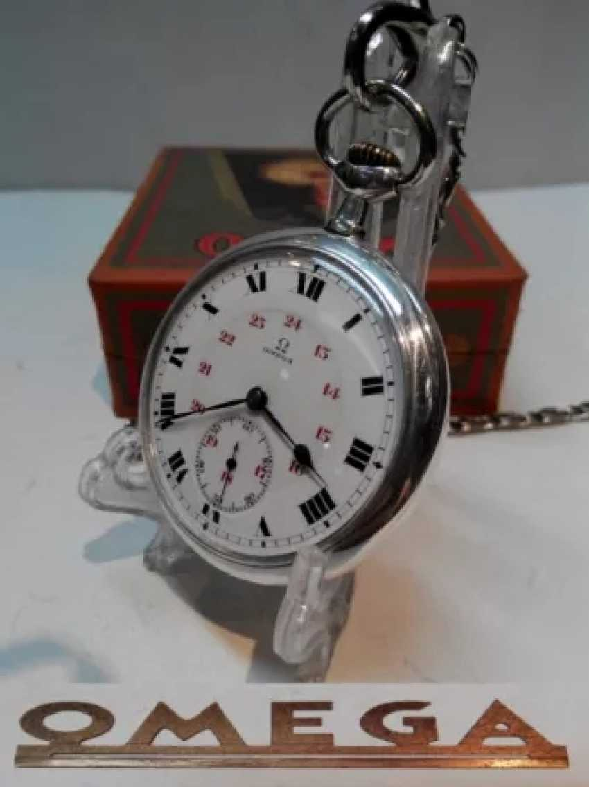 Vintage Omega silver pocket watch - photo 5