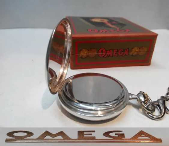 Vintage Omega silver pocket watch - photo 6