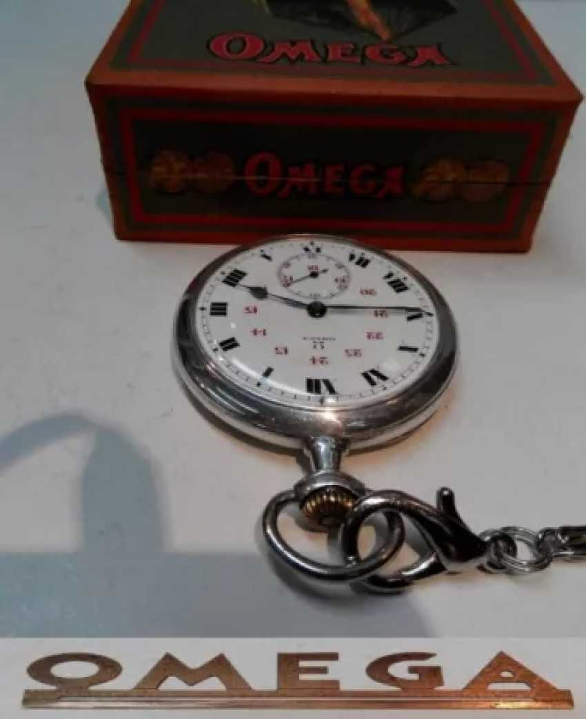 Vintage Omega silver pocket watch - photo 7