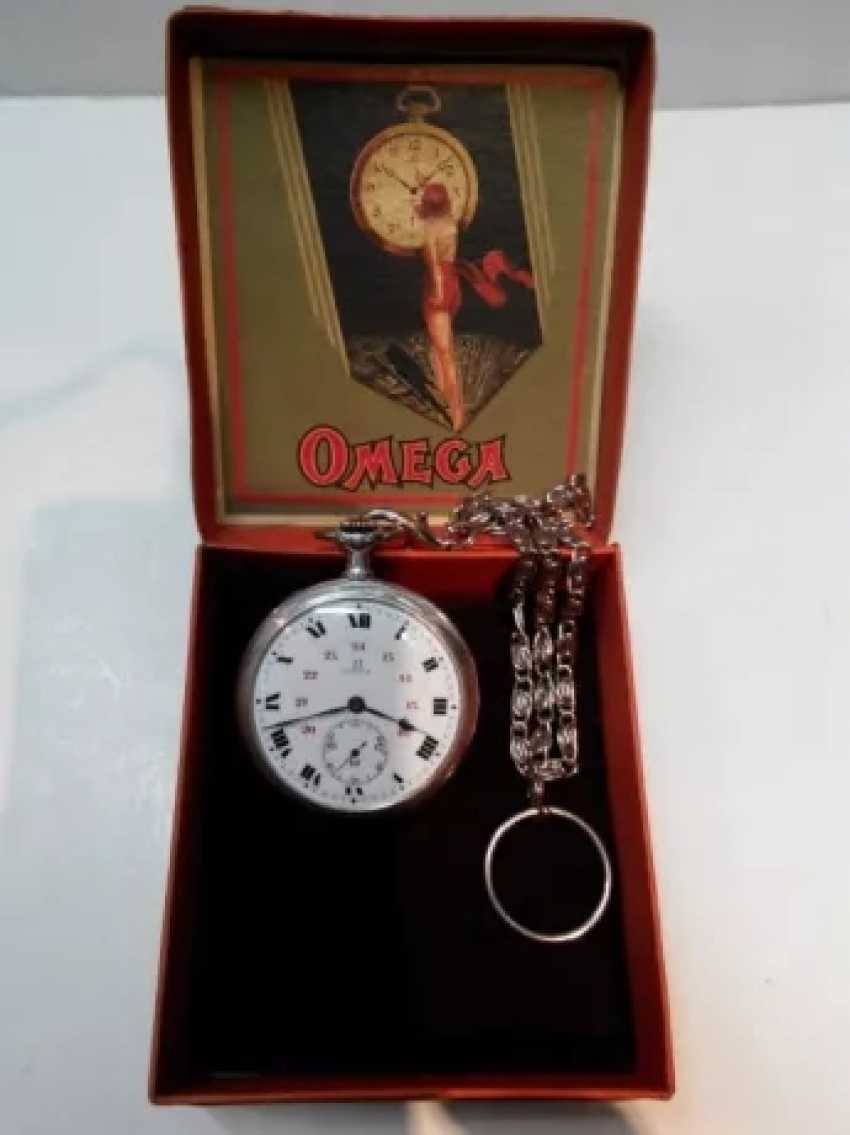 Vintage Omega silver pocket watch - photo 9