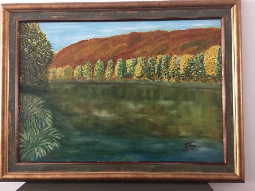 "Olga Gorshkova. ""Autumn on the river SIM at the foot of the Lime tree mountain"" - photo 1"