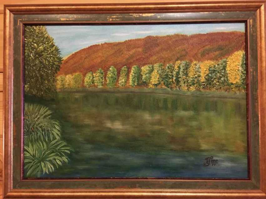 "Olga Gorshkova. ""Autumn on the river SIM at the foot of the Lime tree mountain"" - photo 2"