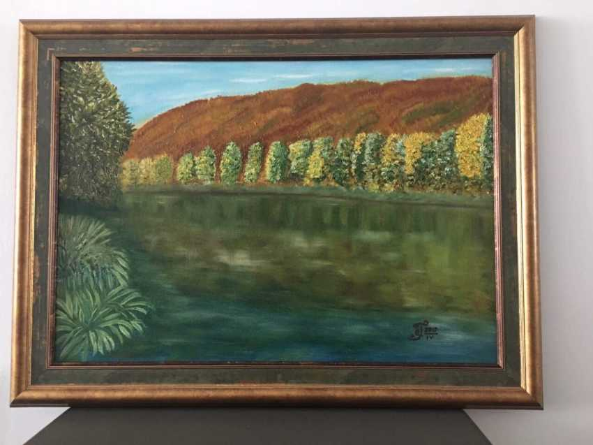 "Olga Gorshkova. ""Autumn on the river SIM at the foot of the Lime tree mountain"" - photo 3"