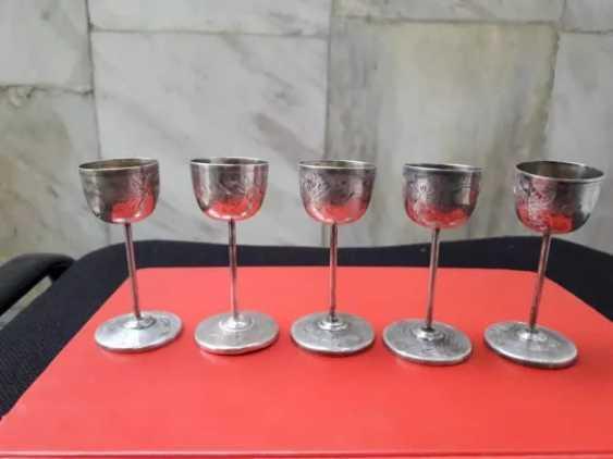 Rare antique silver cups - 5 pieces - photo 1