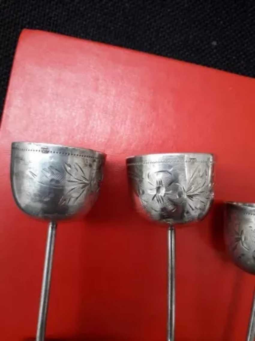 Rare antique silver cups - 5 pieces - photo 2