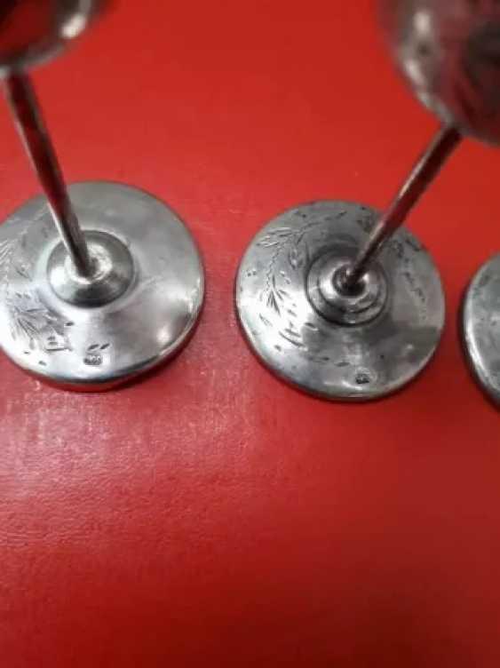 Rare antique silver cups - 5 pieces - photo 3