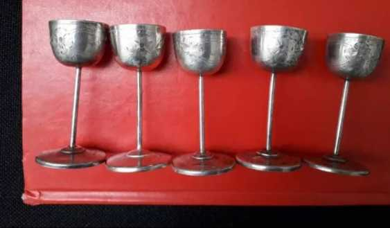 Rare antique silver cups - 5 pieces - photo 4