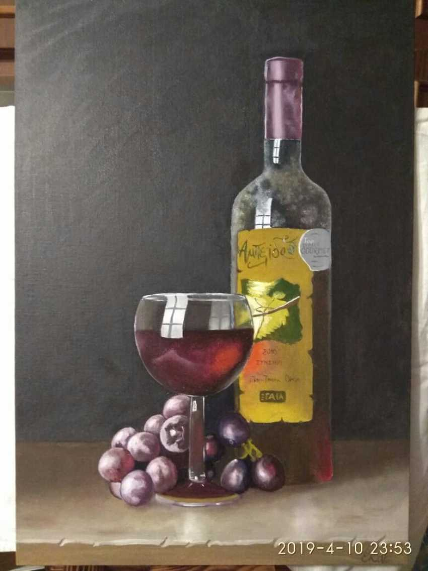 Elena Rak. Still life with a bottle of wine - photo 1