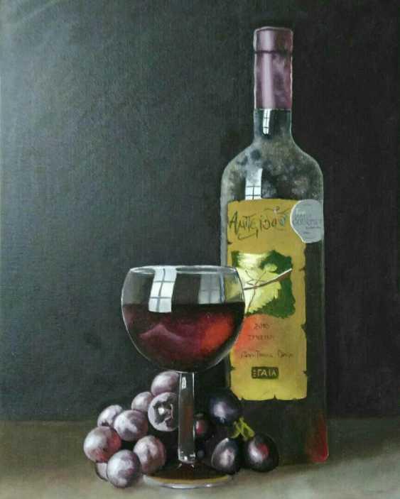 Elena Rak. Still life with a bottle of wine - photo 2